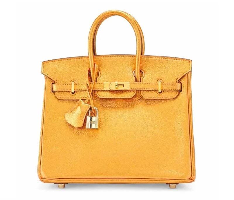 Самые дорогие в мире сумок на аукционе Christie's - Metallic Bronze Chèvre Leather Birkin 25