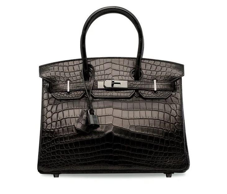 Самые дорогие в мире сумок на аукционе Christie's - Niloticus Crocodile So Black Birkin 30