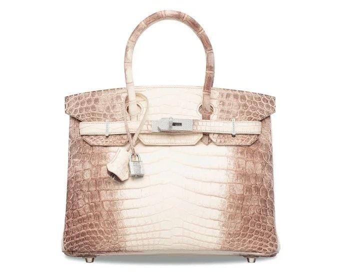Самые дорогие в мире сумок на аукционе Christie's - Niloticus Himalaya Birkin 30