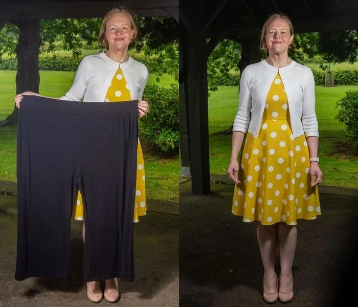 Англичанка похудела на 120 кг в 45 лет - Новый вес и старые брюки