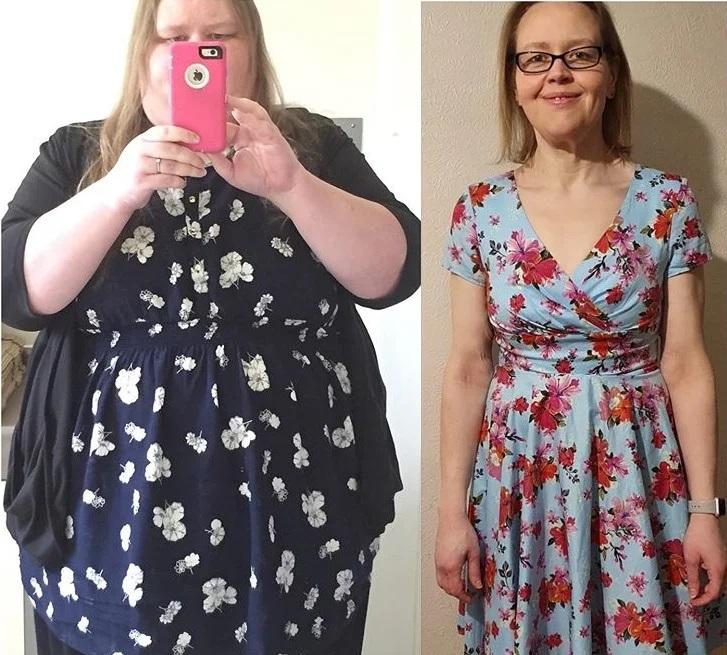 Англичанка похудела на 120 кг в 45 лет - до и после