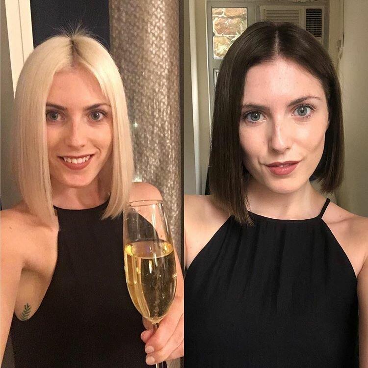 Блондинки, которые перекрасились - четкое каре