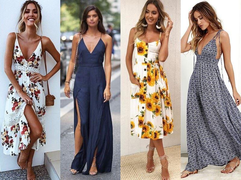 Модные платья на лето - Летние сарафаны на тонких бретелях