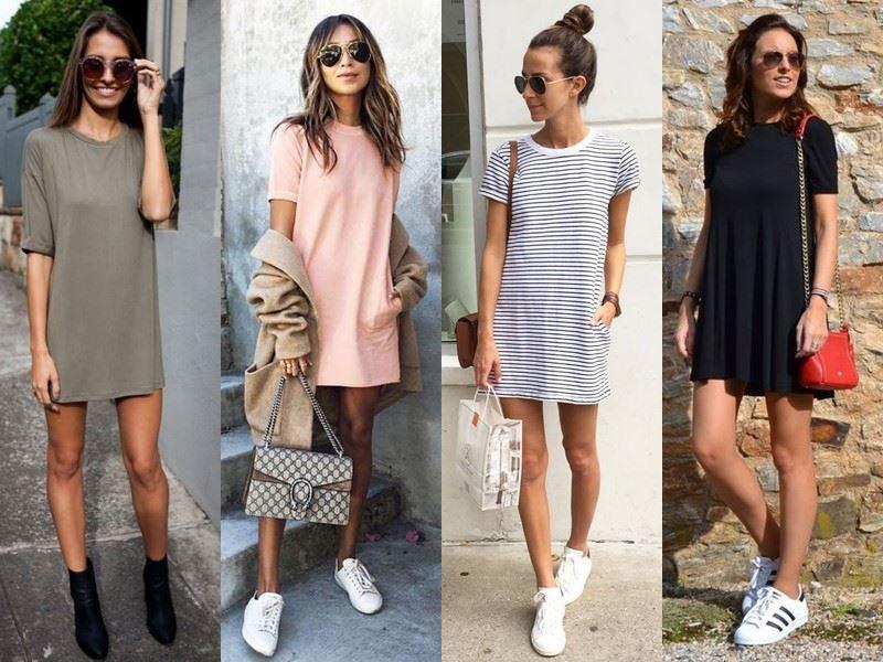 Модные платья на лето - Короткие платья-футболки