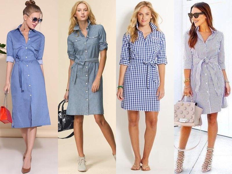 Модные платья на лето - Платья-рубашки до и выше колена