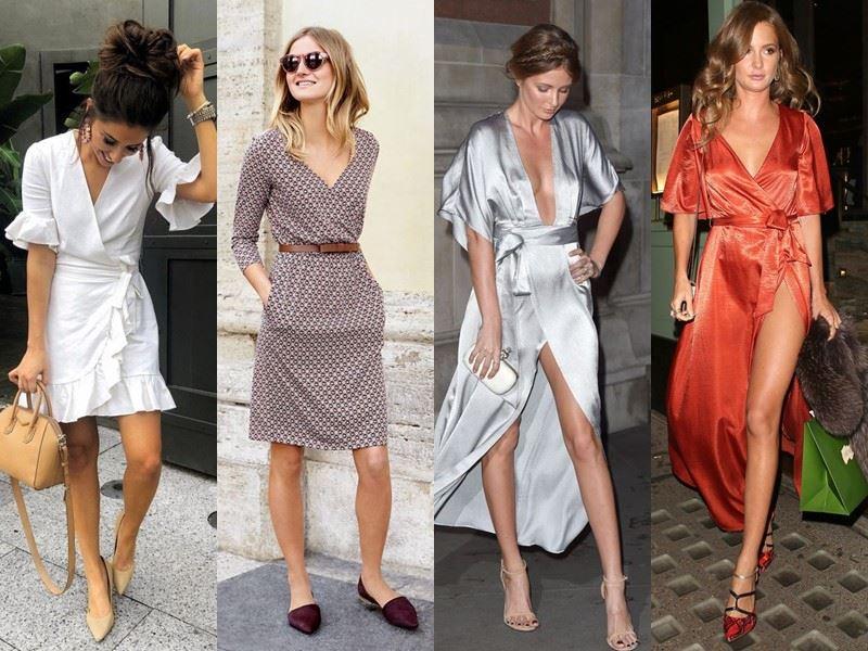 Модные платья на лето - платья-халат с запахом
