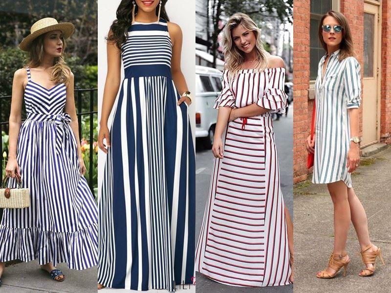 Модные платья на лето - Полосатые платья в разном стиле
