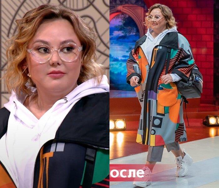 «Модный приговор» - Анастасия, 95 кг - Худи с укороченными брюками и пальто оверсайз