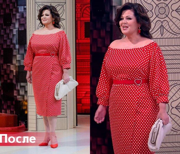"""""""Модный приговор"""", Ольга, 50 лет - Красное платье в горох"""