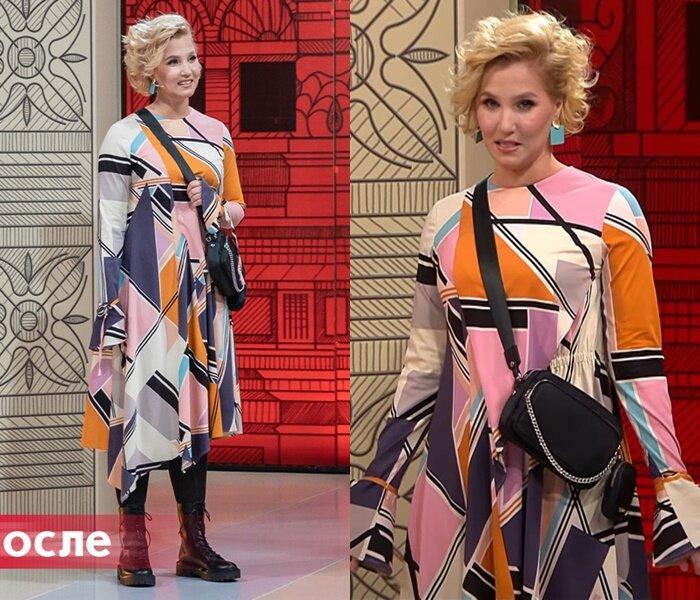 Модный приговор, Василиса - Платье с абстрактным рисунком