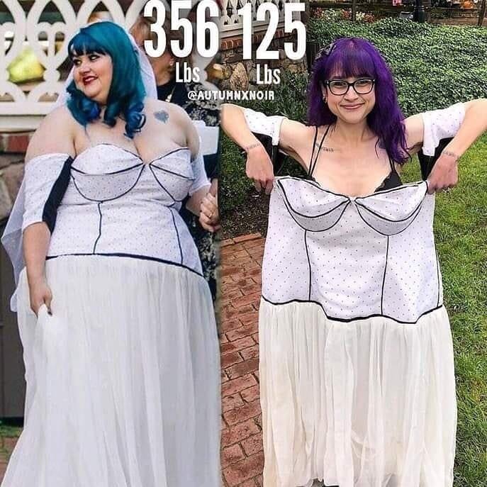Девушки похудели на 50-100 кг - Хизер