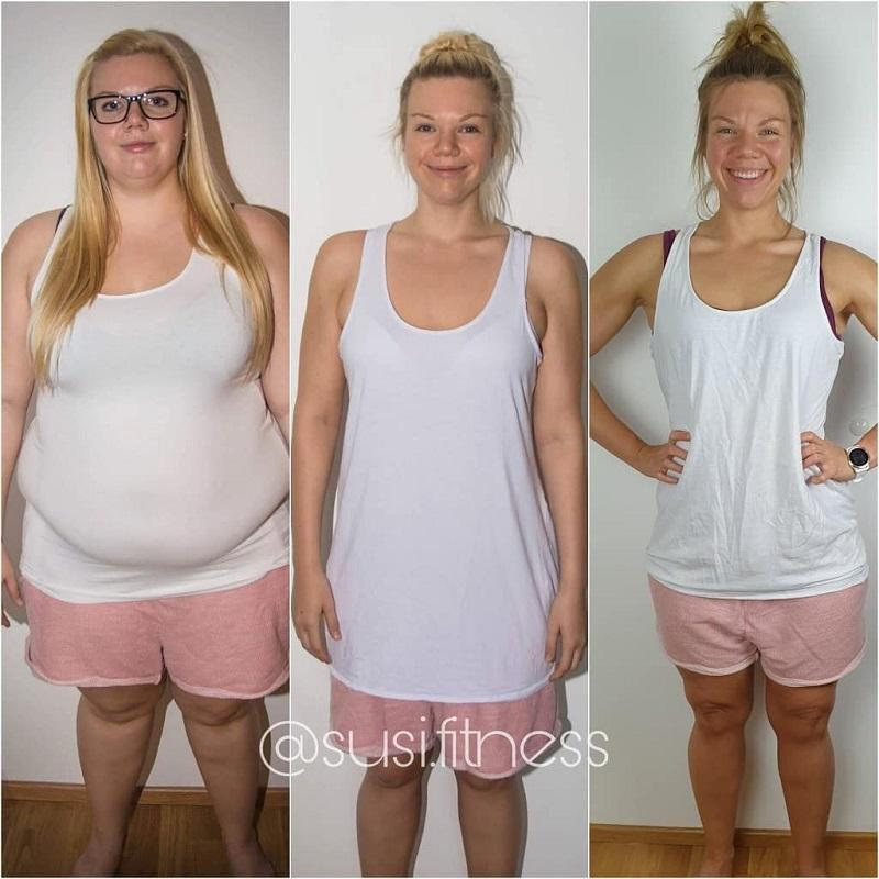 Девушки похудели на 50-100 кг - Сьюзи