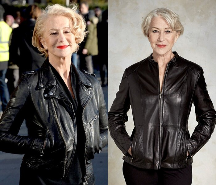 Знаменитости старше 50 в кожаных куртках - Хелен Миррен