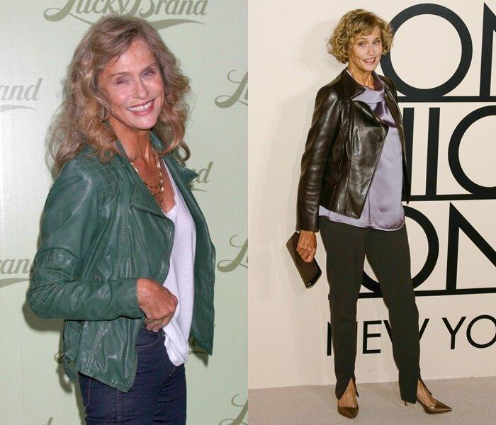 Знаменитости старше 50 в кожаных куртках - Лорен Хаттон
