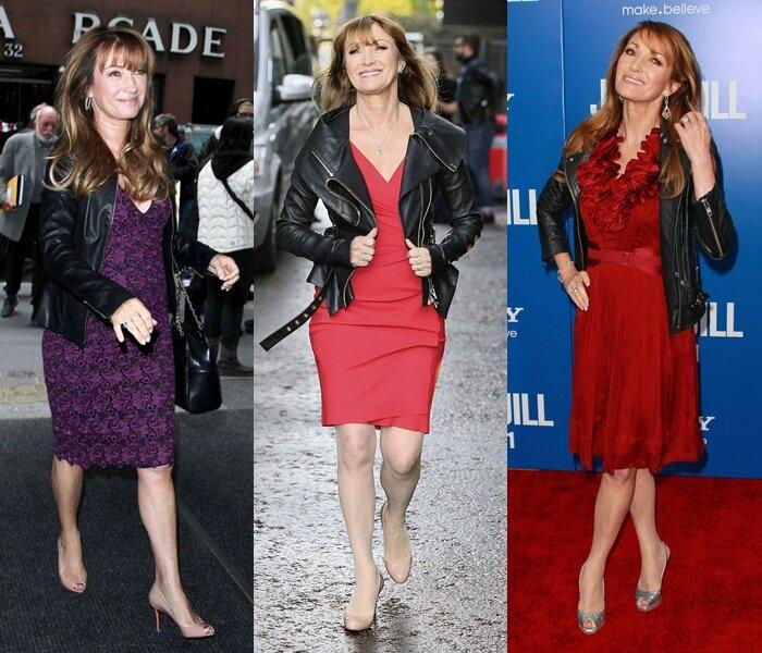 Знаменитости старше 50 в кожаных куртках - Джейн Сеймур