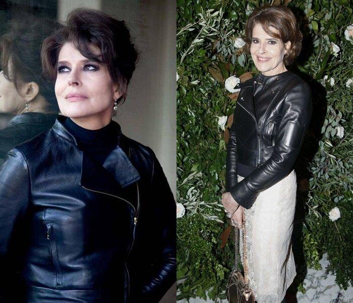 Знаменитости старше 50 в кожаных куртках - Фанни Ардан
