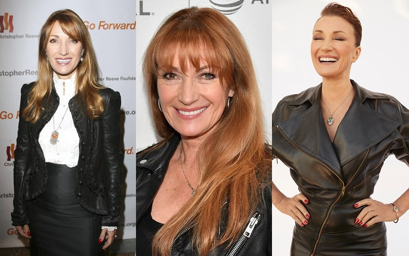 10 образов с кожаными куртками от Джейн Сеймур, которая в 60+ часто носит их с платьями