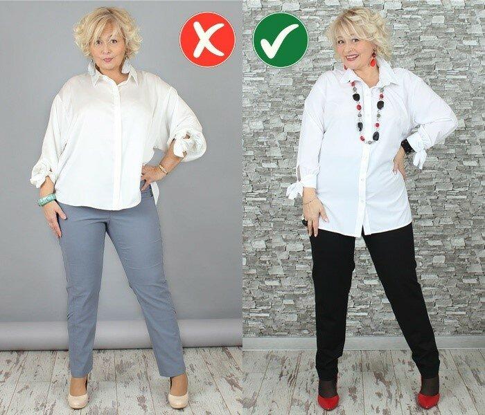 Как одеваться при полной фигуре - Правильная длина верха
