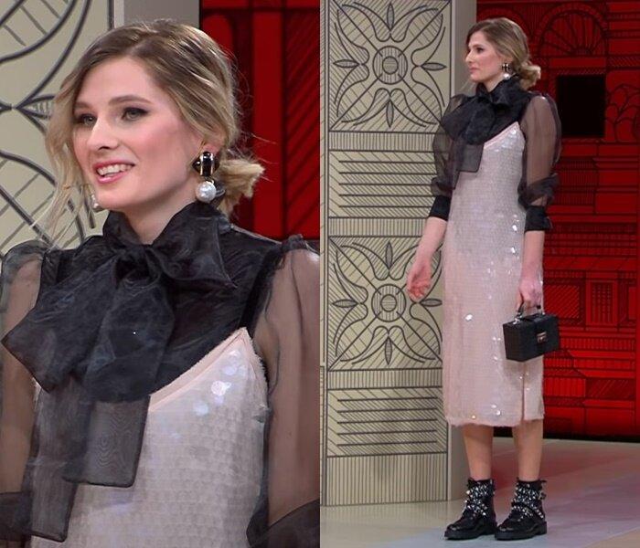 «Модный приговор», пацанка Евгения (25 лет) - Платье в стиле ретро с брутальными ботильонами