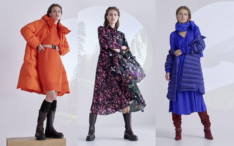 Носим платья в холода: немецкий бренд Marc Cain предлагает 7 женственных образов из коллекции осень-зима 2021-2022