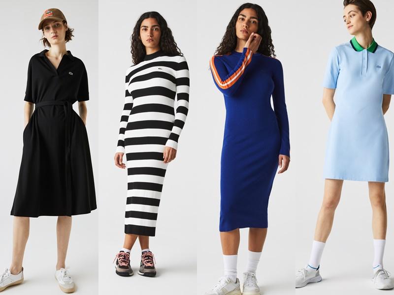 10 комфортных образов с платьями и кроссовками из коллекции французского бренда Lacoste