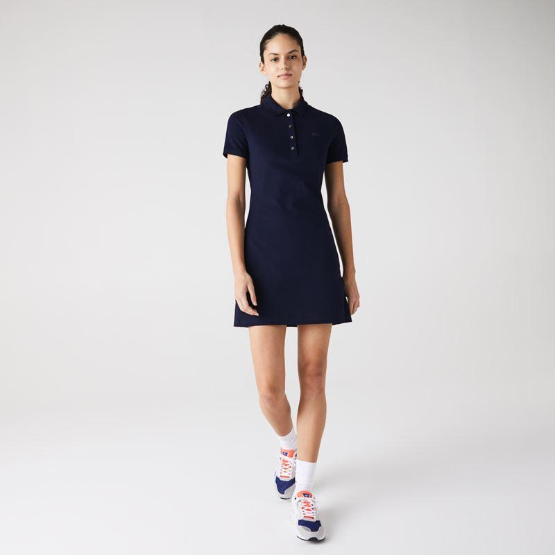 Платья с кроссовками Lacoste 2021-2022 - Короткое приталенное платье-поло