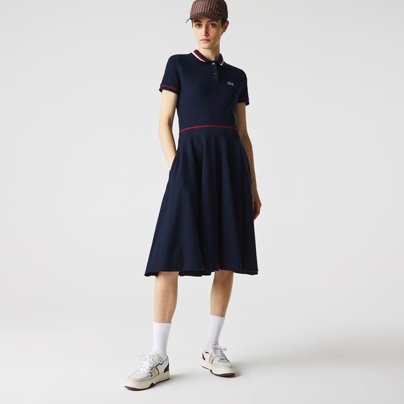 Платья с кроссовками Lacoste 2021-2022 - Приталенное платье-поло до колена