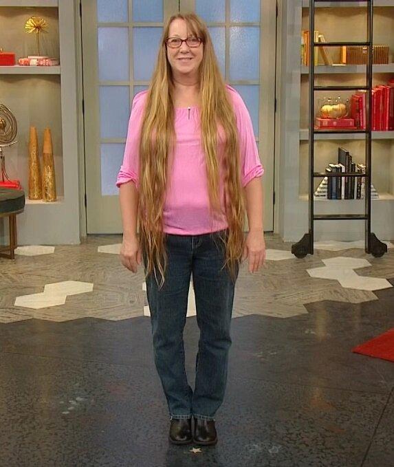 Преображение женщины 50+ с длинными волосами - длина ниже пояса