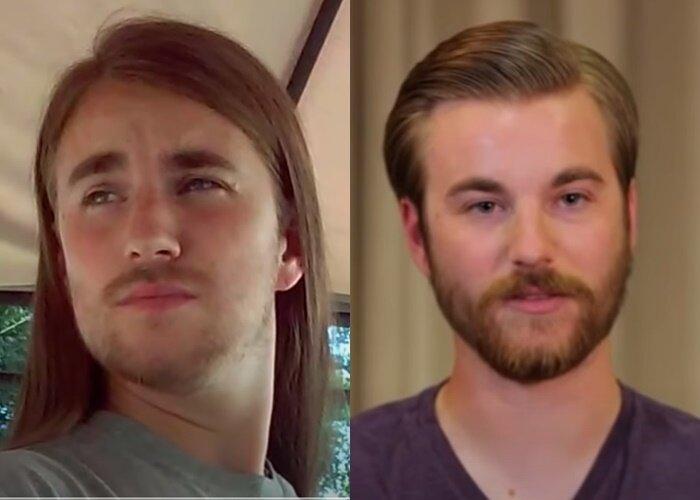 Преображение женщины 50+ с длинными волосами - сын до и после