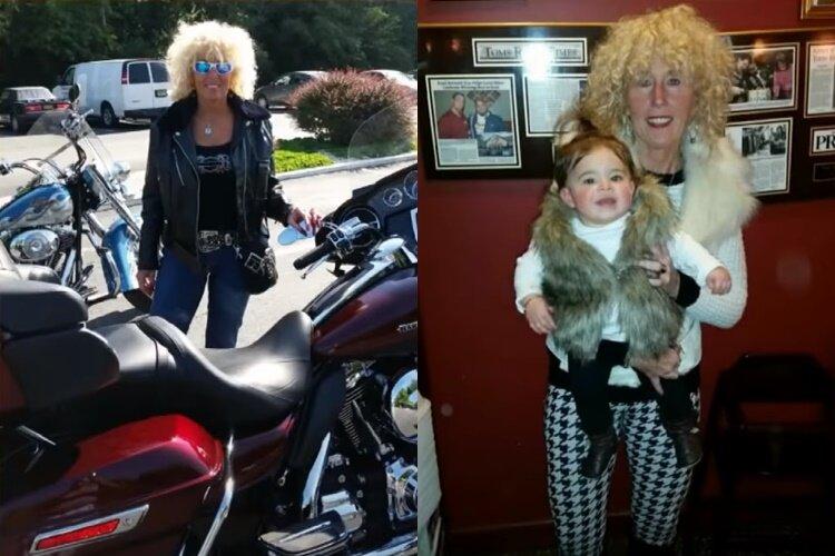Из бабушки-неформалки в леди на каблуках - бабушка на мотоцикле