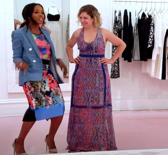 Преображение девушки маленького роста - Платье макси с принтом