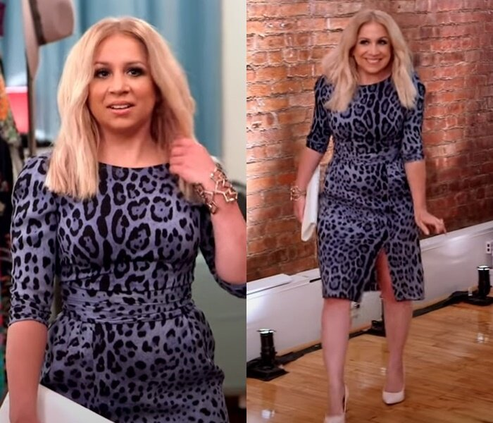 Преображение девушки маленького роста - леопардовое платье и блонд