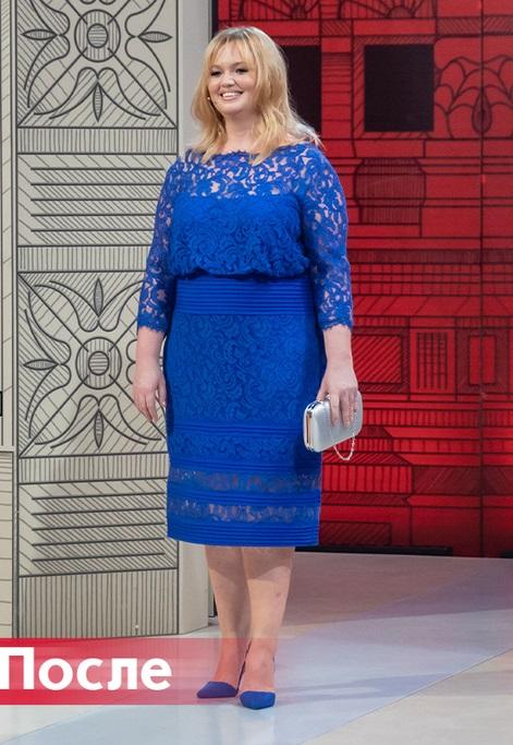 """""""Модный приговор"""" - Виктория, 37 лет - Кружевное синее платье"""
