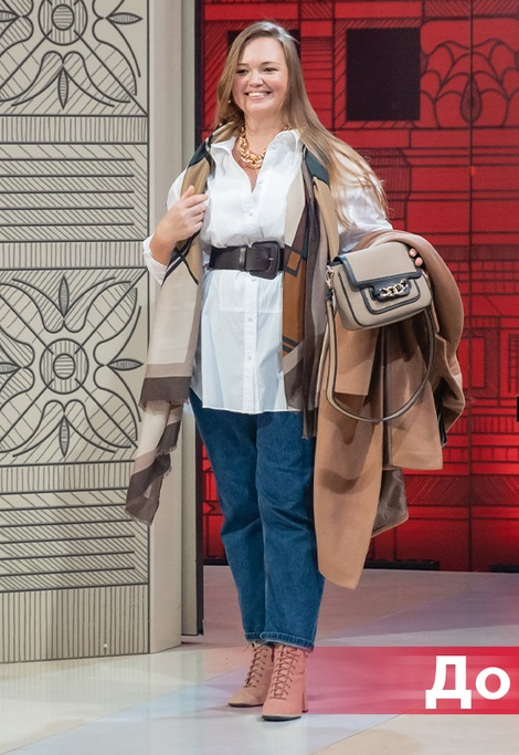 """""""Модный приговор"""" - Виктория, 37 лет - Белая рубашка с джинсами и бежевым пальто"""