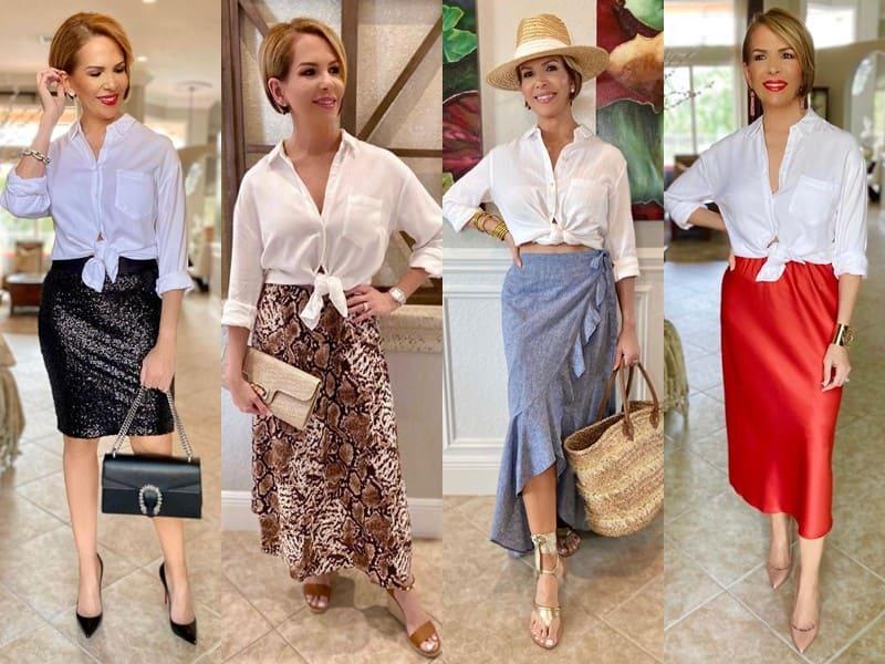 Стиль 50+ американки Риты Гриффин - Базовая белая рубашка