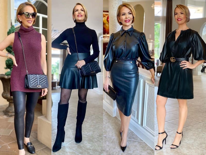 Стиль 50+ американки Риты Гриффин - Кожаные брюки, юбки и платья