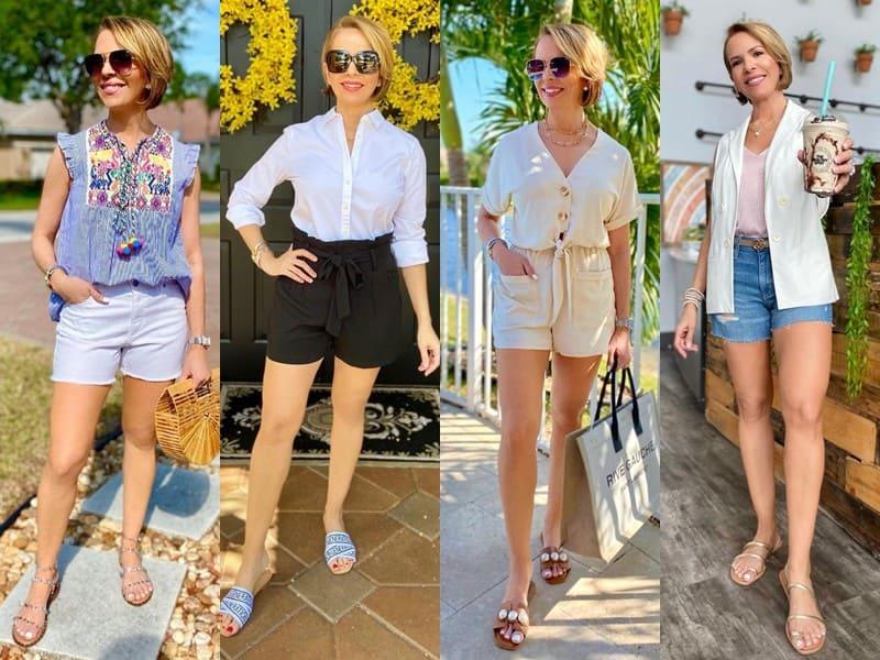 Стиль 50+ американки Риты Гриффин - Короткие шорты