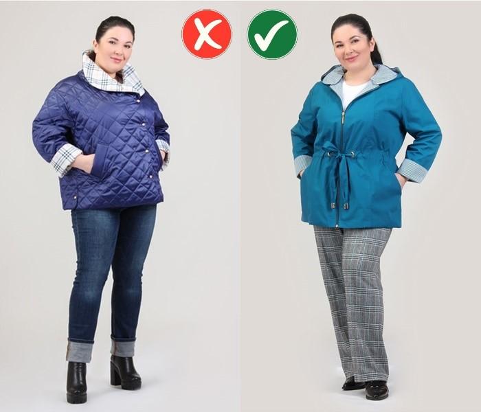Верхняя одежда для полных - Приталенная удлинённая куртка вместо прямого короткого пуховика