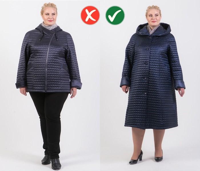 Верхняя одежда для полных - Длинное пальто вместо короткой куртки