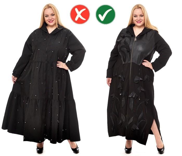 Верхняя одежда для полных - Умеренно свободный крой вместо экстра-оверсайза