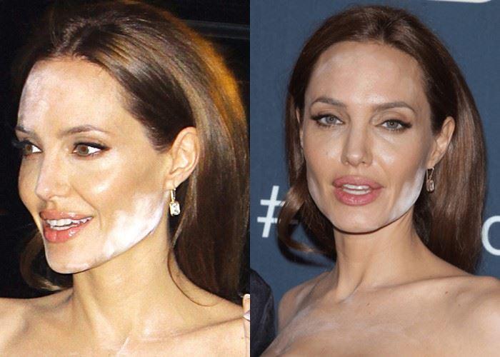 Звёзды с неудачным тоном и пудрой - Анджелина Джоли