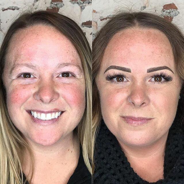 Брови меняют лицо: женщины до и после микроблейдинга - редкие бесцветные