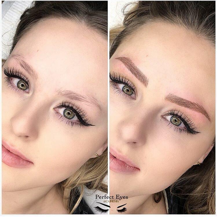 Брови меняют лицо: женщины до и после микроблейдинга - естественный результат