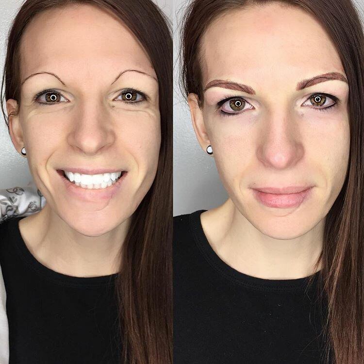 Брови меняют лицо: женщины до и после микроблейдинга - ниточки