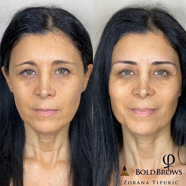 Брови меняют лицо: женщины до и после микроблейдинга - домиком