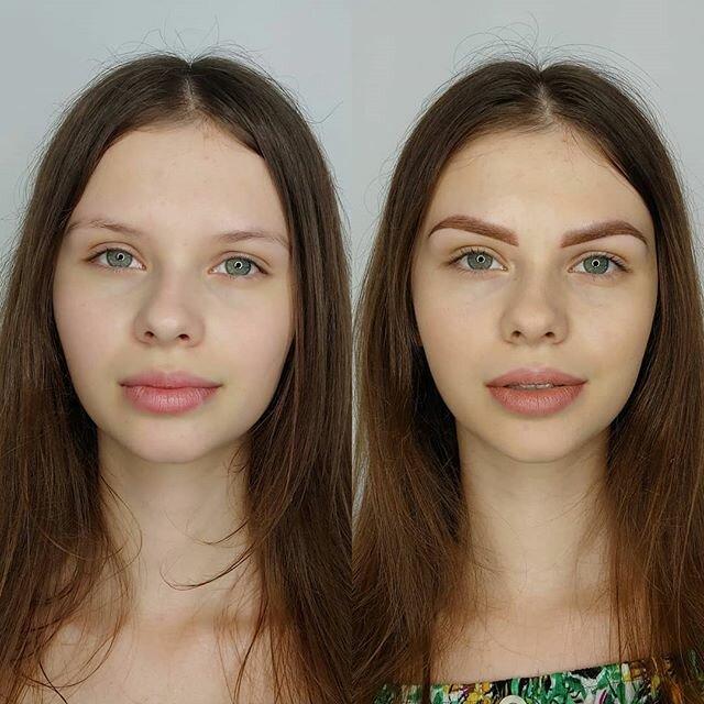 Брови меняют лицо: женщины до и после микроблейдинга - массивные