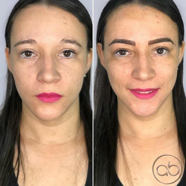 Брови меняют лицо: женщины до и после микроблейдинга - домиком тяжелые резкие