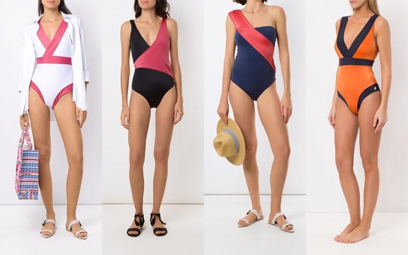 10 слитных купальников с эффектом колор блок из коллекции бренда Brigitte 2021
