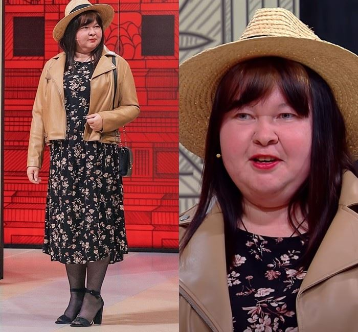 Модный приговор для Ирины - Цветочное платье + кожаная косуха + шляпа