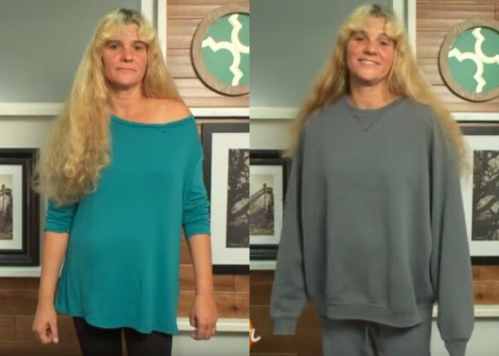 Преображение домохозяйки Кэти - Одежда героини - домашняя, комфортная, мешковатая